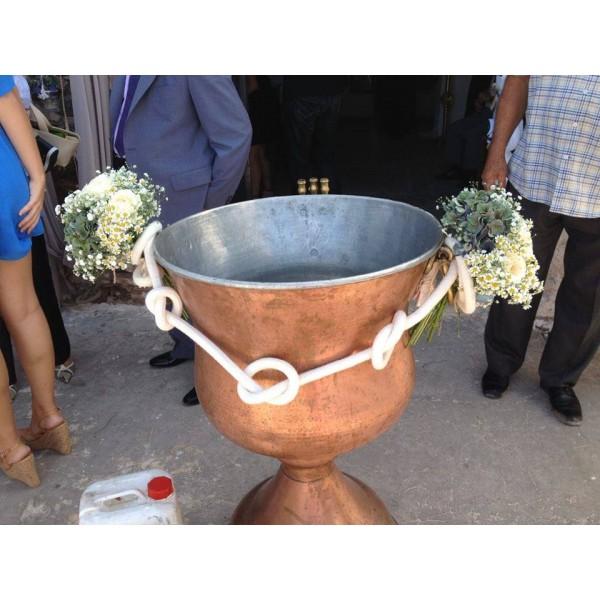 Διακόσμηση Κολυμπήθρας 'Σκοινιά με Χαμομήλι κ Τριαντάφυλλα'