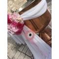 Διακόσμηση Κολυμπήθρας 'Ρόζ Μάτι και Μπουκέτα'