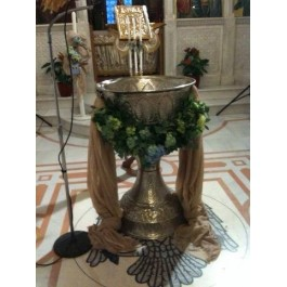 Διακόσμηση Κολυμπήθρας 'Γιρλάντα από Γαλαζοπράσινες Ορτανσίες'