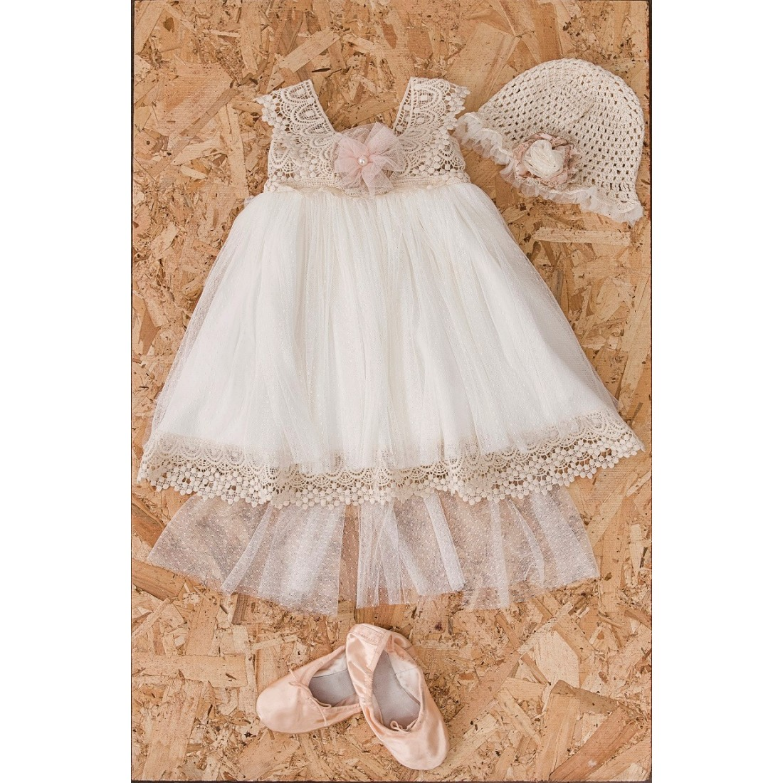 524f97936eb1 Βαπτιστικό Φόρεμα Ira