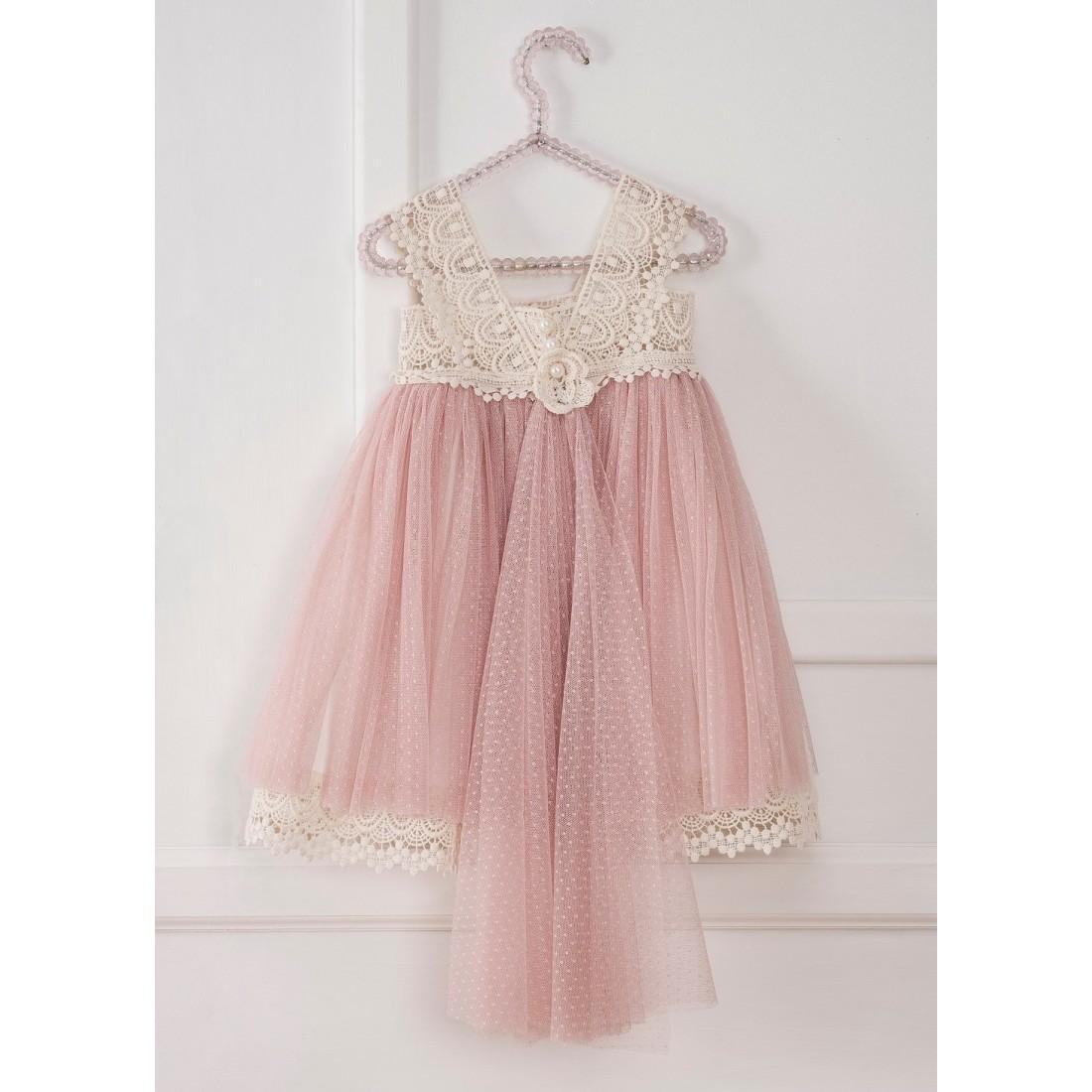 Βαπτιστικό Φόρεμα Vintage Girl 15659952092