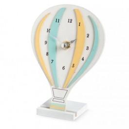 Μπομπονιέρα Βάπτισης Ξύλινο Αερόστατο με Ρολόι