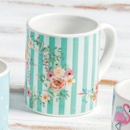 Μπομπονιέρα Βάπτισης Κούπα Romantic-Floral Ριγιέ σε Κουτί