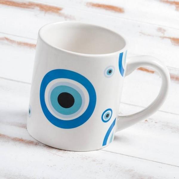 Μπομπονιέρα Βάπτισης Κούπα Evil Eye - Μάτι Μπλε σε Κουτί