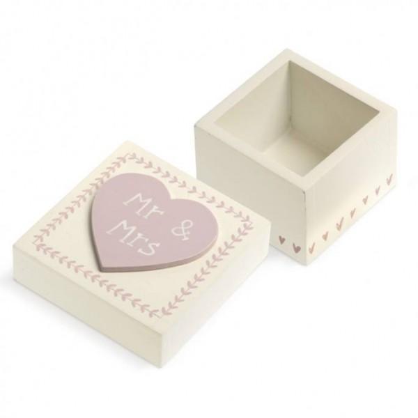 Μπομπονιέρα Γάμου Ξύλινο Κουτί 'Mr & Mrs'