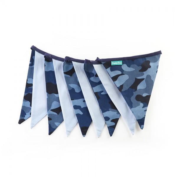 Υφασμάτινα Σημαιάκια Παραλλαγή Μπλε με Σιέλ