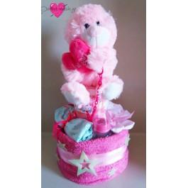 Τούρτα Ροζ Φωτεινό Αρκουδάκι
