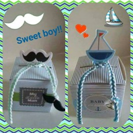 Mini Cupcake Boxes for Baby Boys
