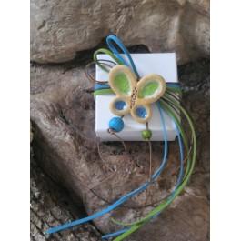 Μπομπονιέρα Γάμου - Βάπτισης Κουτιά με κεραμικές Πεταλούδες