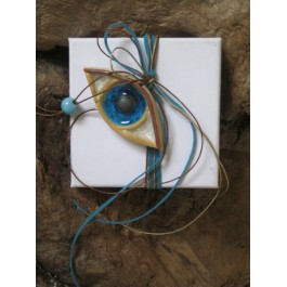 Μπομπονιέρα Γάμου - Βάπτισης Κουτί με κεραμικό Μάτι