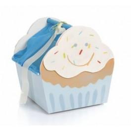 Κουτί Βαπτιστικό Cupcake Γαλάζιο