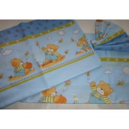 Σεντονάκια Κούνιας 'Blue Teddy Bears'