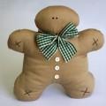 Χειροποίητα Υφασμάτινα Ginger Cookies Αρκουδάκια