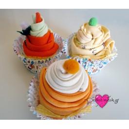3 Πολύχρωμα Cupcakes