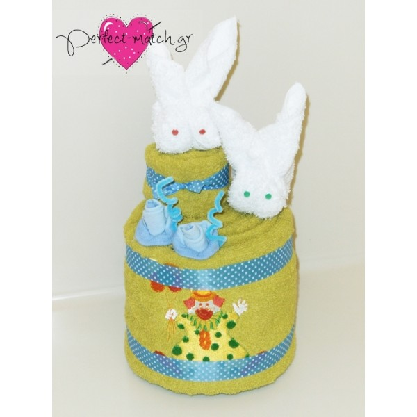 Towel Cake Λαγουδάκια