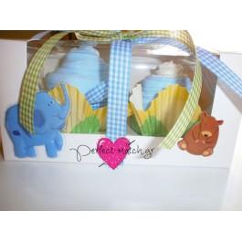 Κουτί με 2 Γαλάζια Cupcakes