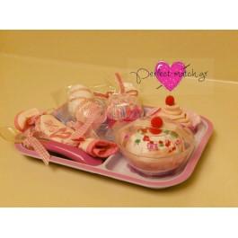 Δισκάκι με Ροζ Γλυκά