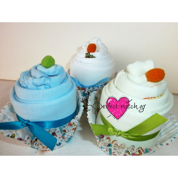 3 Baby cupcakes