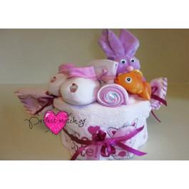 Τουρτάκι-Καραμέλα 'Pink Bath Time'