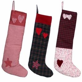 Χειροποίητες Υφασμάτινες Κρεμαστές Κάλτσες