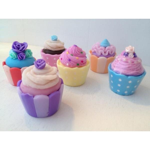 Μπομπονιέρα Βάπτισης Σαπουνάκια Cupcakes