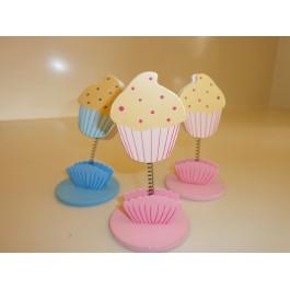 Μπομπονιέρα Βάπτισης Ξύλινα Clip Cupcakes