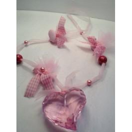 Μπομπονιέρα Γάμου - Βάπτισης Κρυστάλλινη Καρδιά Κολιέ
