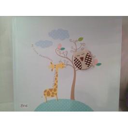 Βιβλίο Ευχών 'Καμηλοπαρδαλάκι με Κουκουβάγια'