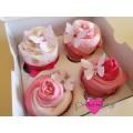 4 Ροζ Cupcakes