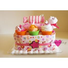 Τούρτα Καραμέλα με Cupcakes