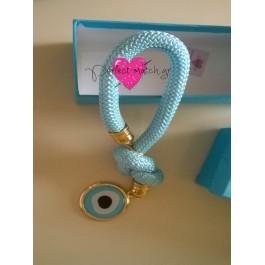 Μπομπονιέρα Γάμου - Βάπτισης Γαλάζιο Γούρι Μάτι