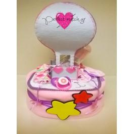 Τούρτα Ροζ Αερόστατο