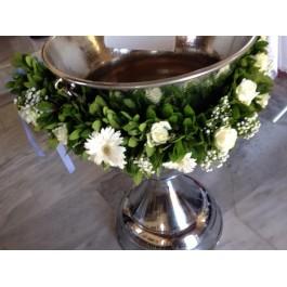 Κολυμπήθρα Γιρλάντα με Λευκά Λουλούδια