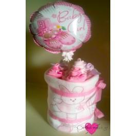 Ροζ Λουλουδάτο Τουρτάκι