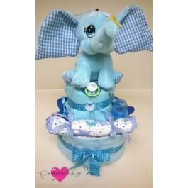Τούρτα Χαρούμενο Μπλε Ελεφαντάκι