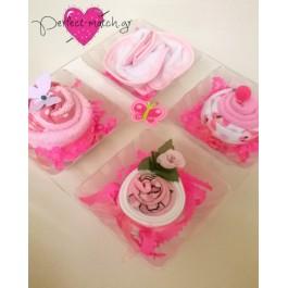 Θήκη με 4 Ροζ Cupcakes