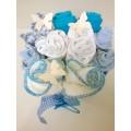 Γαλάζιο Κουβαδάκι με Λουλουδάκια