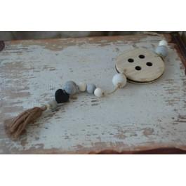 Μπομπονιέρα Γάμου - Βάπτισης  Vintage Κρεμαστό Κουμπί