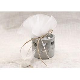 Μπομπονιέρα Γάμου - Βάπτισης Πέτρινα Ρεσώ με Ευχές