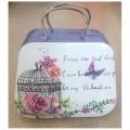 Μπομπονιέρα Γάμου - Βάπτισης Μεταλλικά Βαλιτσάκια Λουλούδια