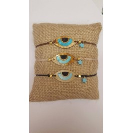 Βραχιολάκια Μάτι Γαλάζιο Plexiglass