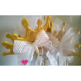 Μπομπονιέρα Γάμου - Βάπτισης  Deluxe Stick Κορώνα Glitter