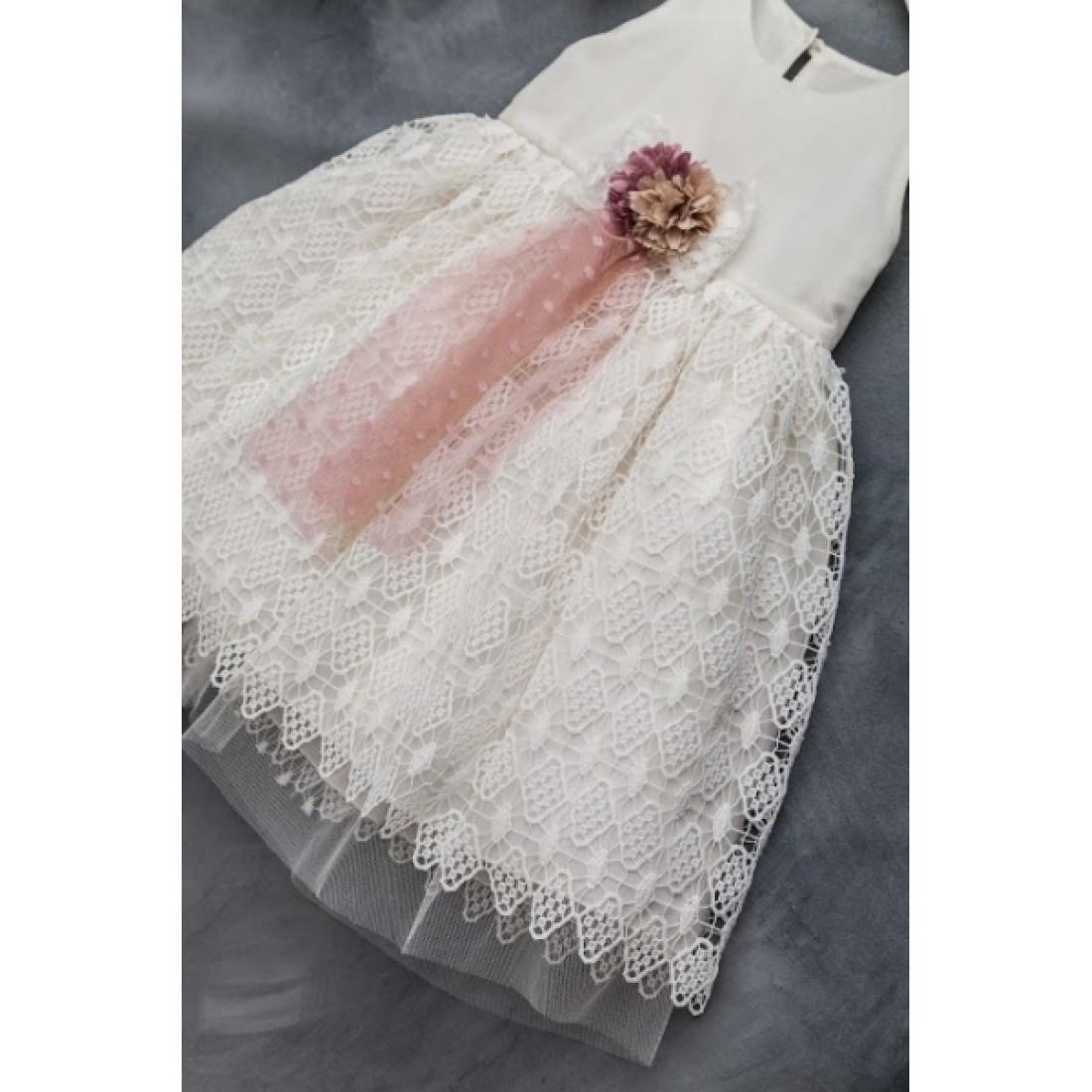 46082e58d58 Βαπτιστικό Φόρεμα Sara