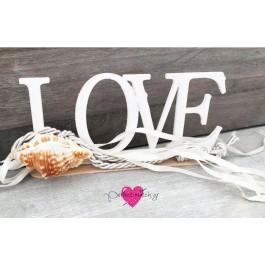 Μπομπονιέρα Γάμου - Βάπτισης LOVE με Κοχύλι