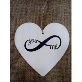 Μπομπονιέρα Γάμου Άπειρο σε Μεγάλη Καρδιά