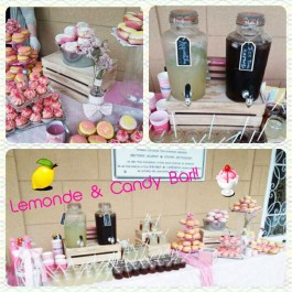 Candy & Lemonade Bar Girly Pink